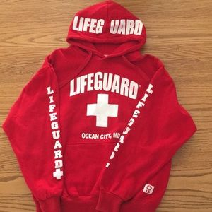 "Tops - Hoodie ""Ocean City, MD"" Lifeguard"